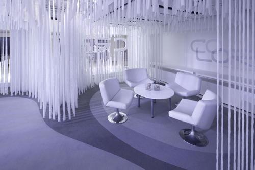 antron carpet neocon showroom led module lights 3