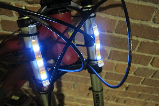Safe night riding made easy with bike lights using our led strip close aloadofball Image collections