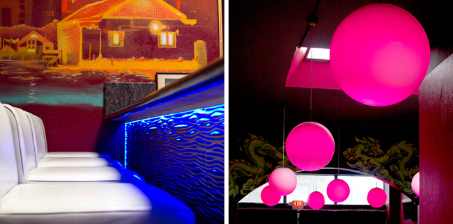 Color-Changing RGB LED Lighting at Cafe V