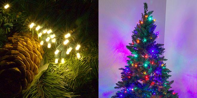 Glitter LED Christmas Lights